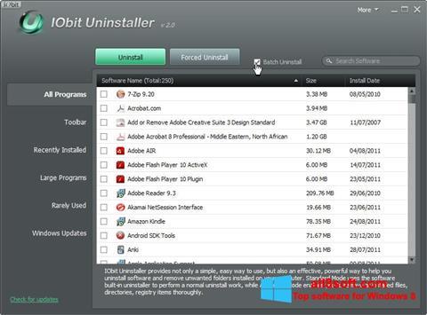 Ekraanipilt IObit Uninstaller Windows 8