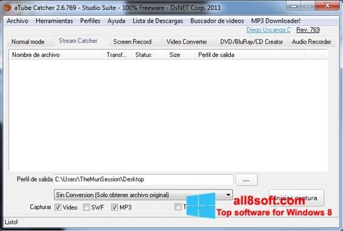Ekraanipilt aTube Catcher Windows 8