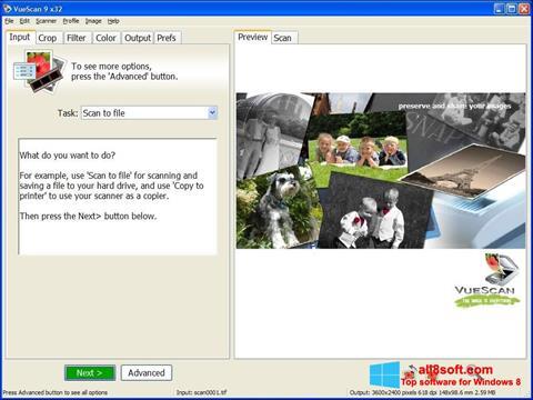 Ekraanipilt VueScan Windows 8
