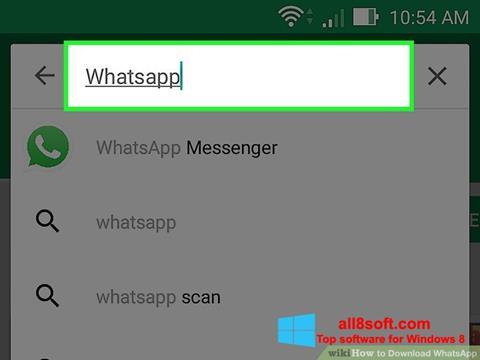 Ekraanipilt WhatsApp Windows 8