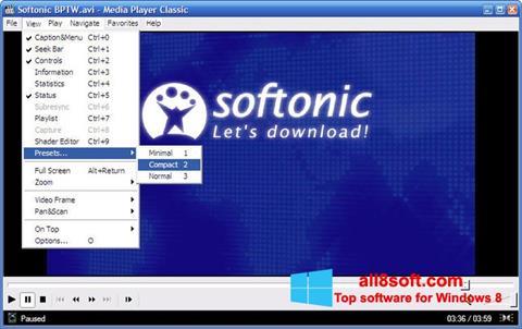 Ekraanipilt Media Player Classic Windows 8