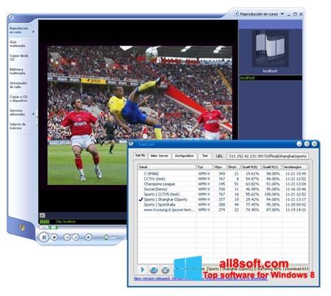Ekraanipilt SopCast Windows 8