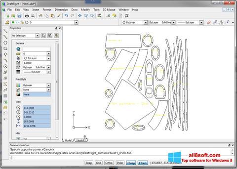 Ekraanipilt DraftSight Windows 8