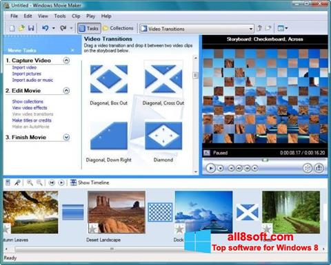 Ekraanipilt Windows Movie Maker Windows 8