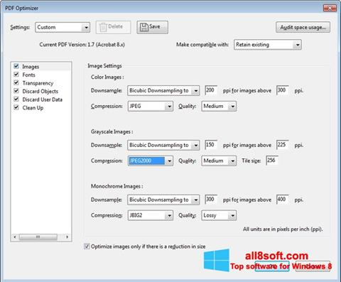 Ekraanipilt Adobe Acrobat Pro DC Windows 8