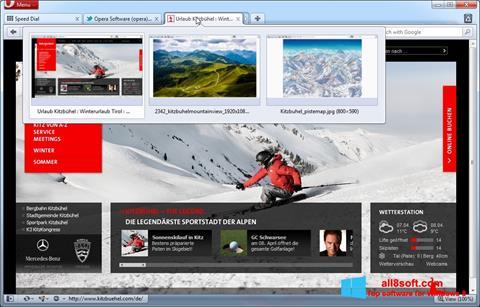 Ekraanipilt Opera Windows 8