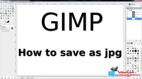 Ekraanipilt GIMP Windows 8