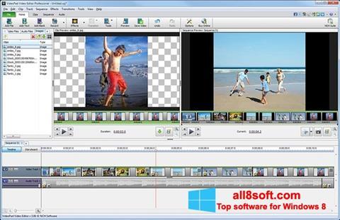 Ekraanipilt VideoPad Video Editor Windows 8