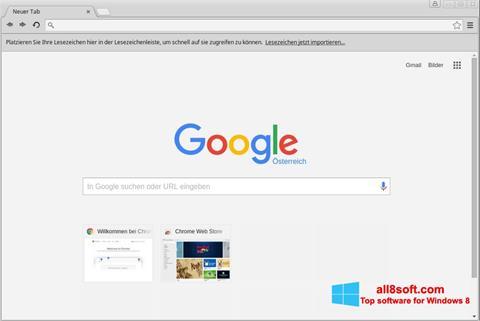 Ekraanipilt Google Chrome Windows 8