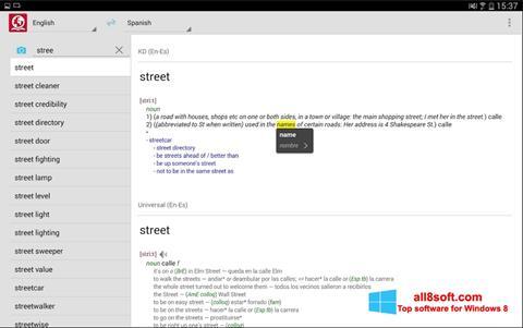 Ekraanipilt ABBYY Lingvo Windows 8