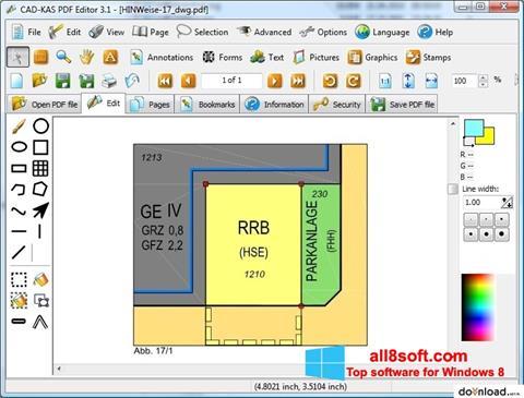 Ekraanipilt PDF Reader Windows 8