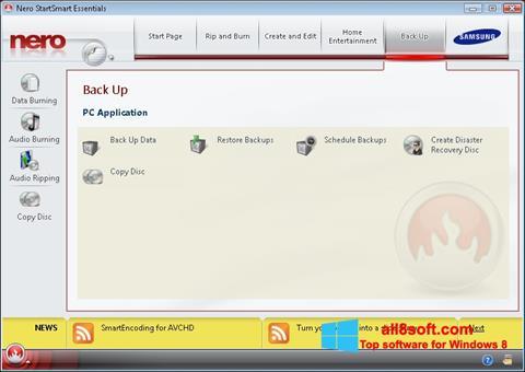 Ekraanipilt Nero Windows 8