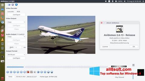 Ekraanipilt Avidemux Windows 8